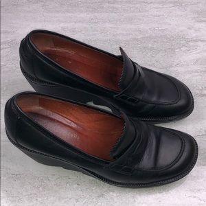 🌵Donald J. Pliner Black Leather Loafer Wedges